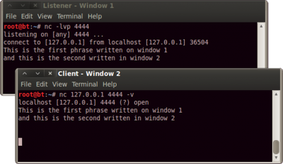 Netcat simple chat